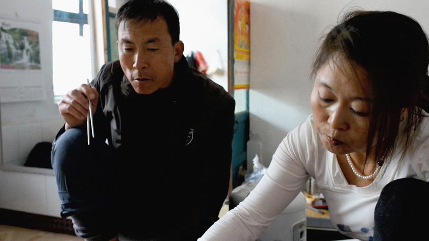 Madame B. et son mari coréen, Séoul.